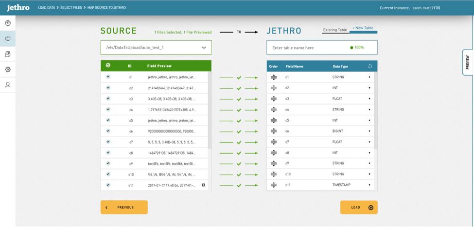 jethro screen shot select data
